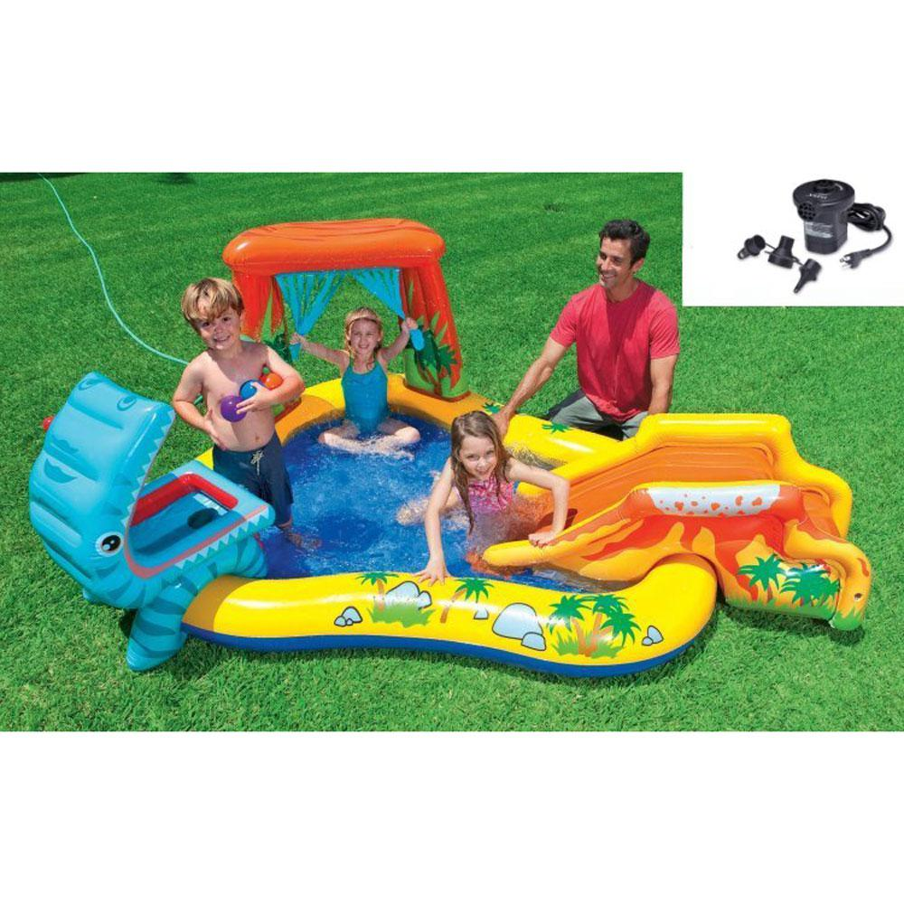 Intex Intex Dinosaur Play Center Inflatable Kids Swimming Pool Quick Fill Air Pump