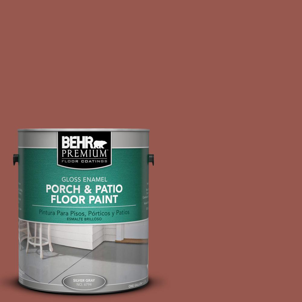 1 gal. #AE-12 Oxide Red Gloss Porch and Patio Floor Paint