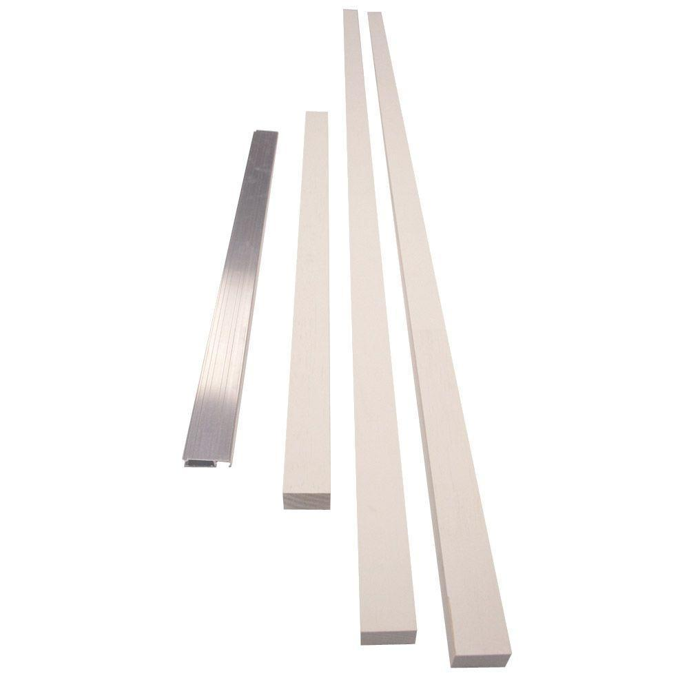 6-9/16 in  Exterior Door Jamb Extension Kit with Mill Sill