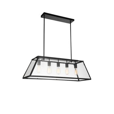 Alyson 5-Light Black Chandelier
