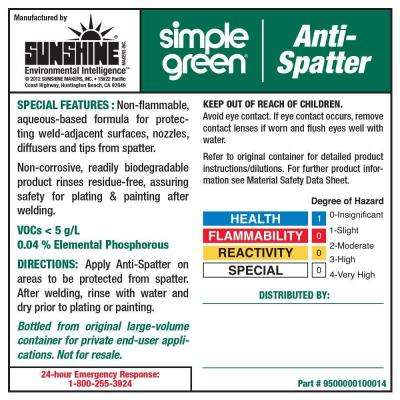 Anti-Spatter Secondary Label (10-Pack)