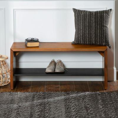 42 in. Amber Solid Reclaimed Wood Entry Bench