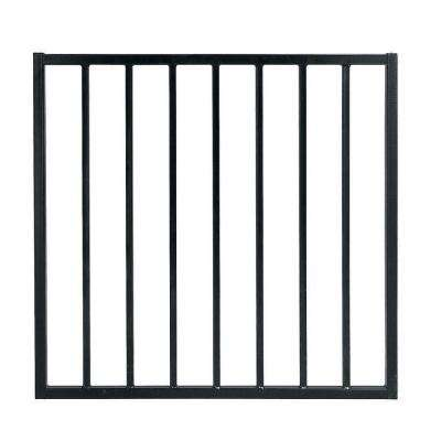 Pro Series 2.75 ft. x 3.6 ft. Black Galvanized Steel Fixed Flush Top Fence Gate