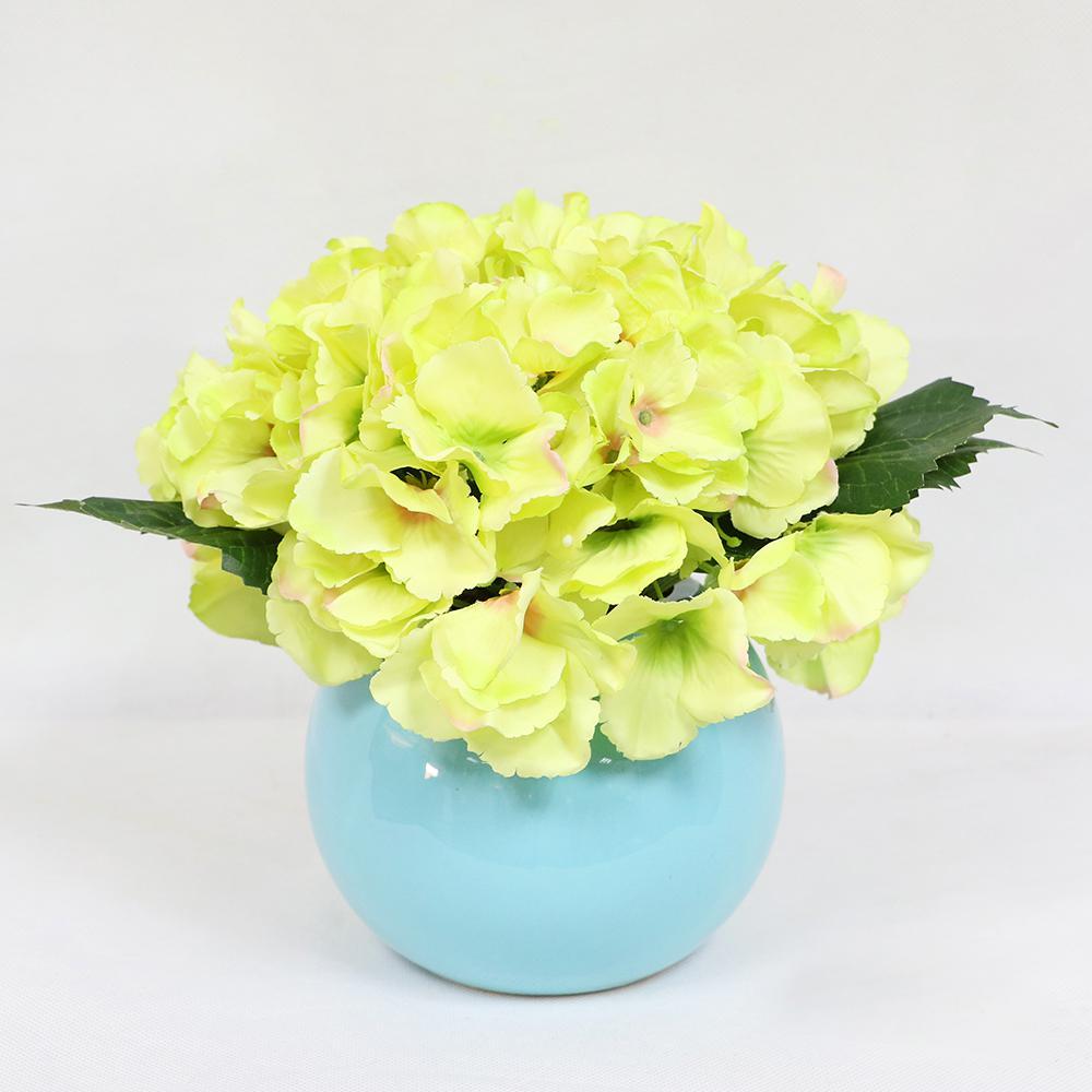 10 in. Indoor Artificial Potted Hydrangea