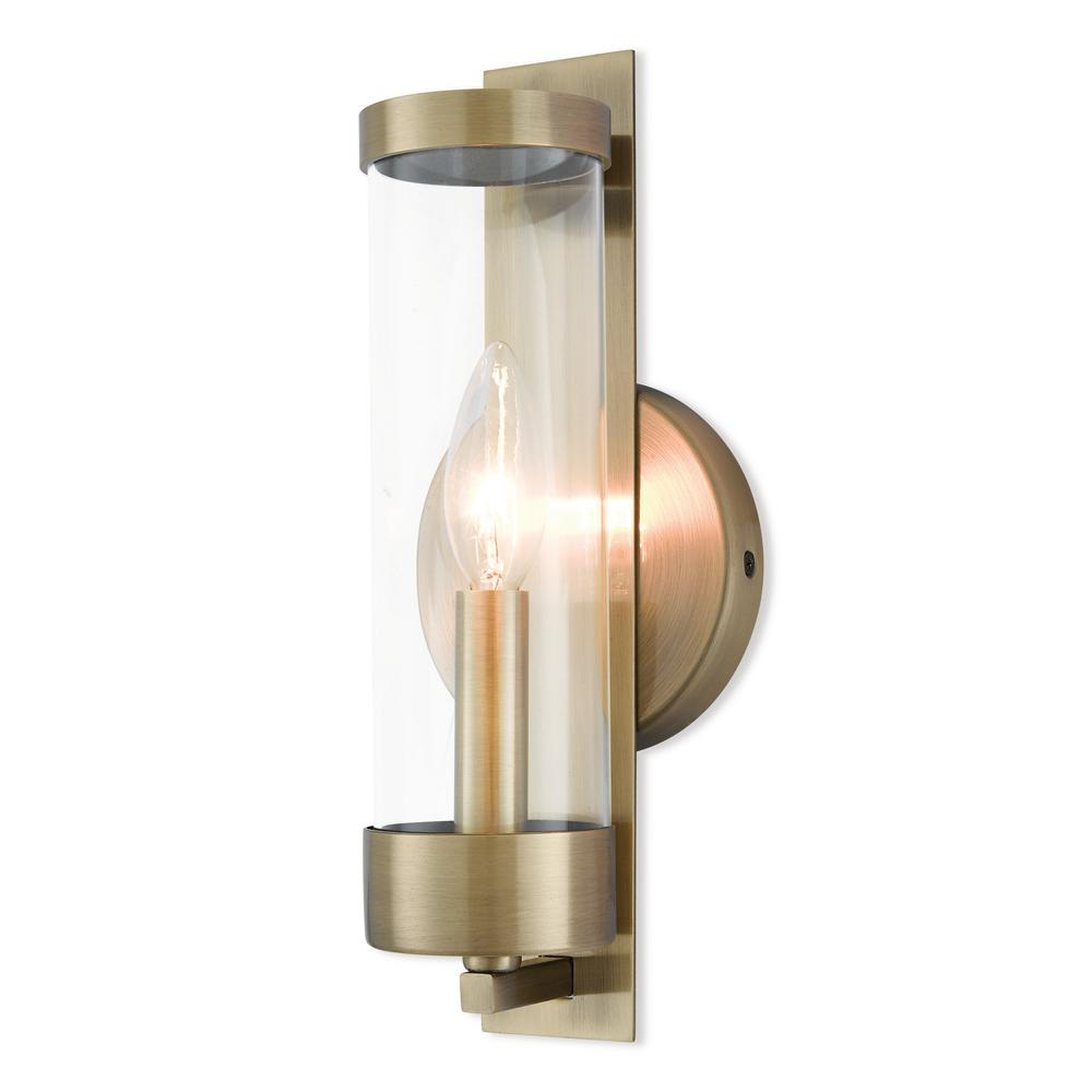 Livex Lighting Castleton 1-Light Antique Brass Sconce