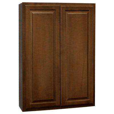 Hampton Assembled 30x42x12 in. Wall Kitchen Cabinet in Cognac
