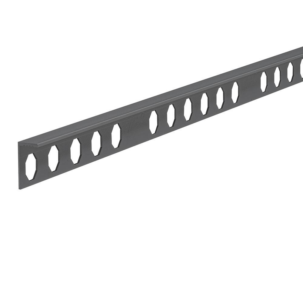 Novosuelo Matt Graphite 1/2 in. x 98-1/2 in. Aluminum Tile Edging Trim