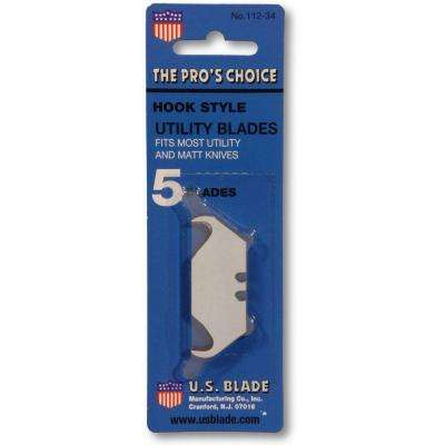 Heavy Duty Hook Blades Carded (5-Pack) (Set of 10)