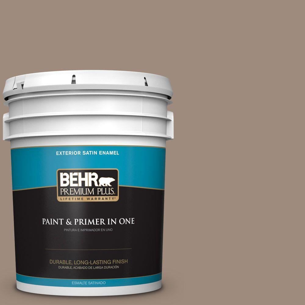 5-gal. #BXC-49 Smokey Tan Satin Enamel Exterior Paint