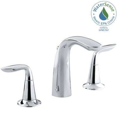 Refinia 8 in. Widespread 2-Handle Water-Saving Bathroom Faucet in Polished Chrome