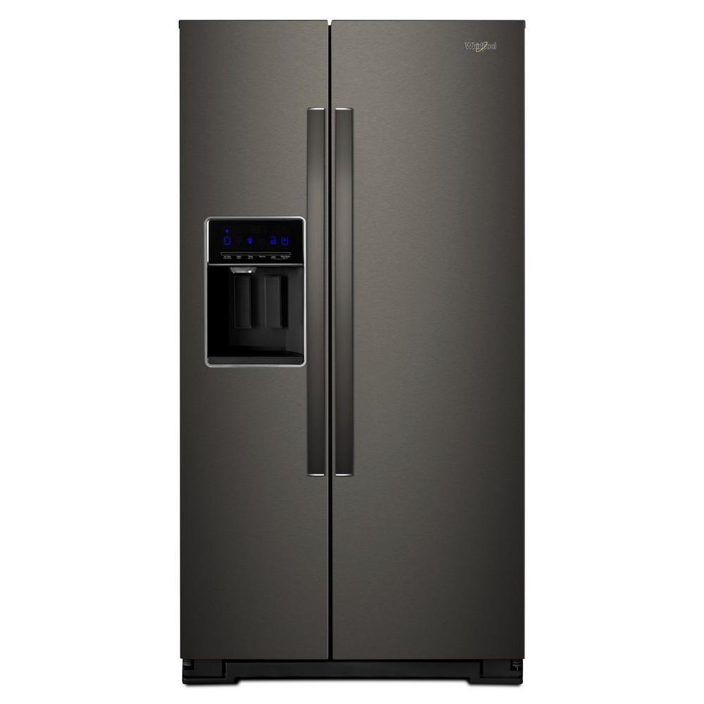 Whirlpool 36 in. W 21 cu. ft. Side By Side Refrigerator i...