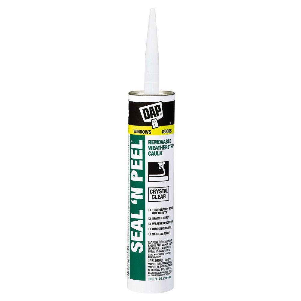 DAP Seal \'N Peel 10.1 oz. Clear Removable Weatherstrip Caulk-18351 ...