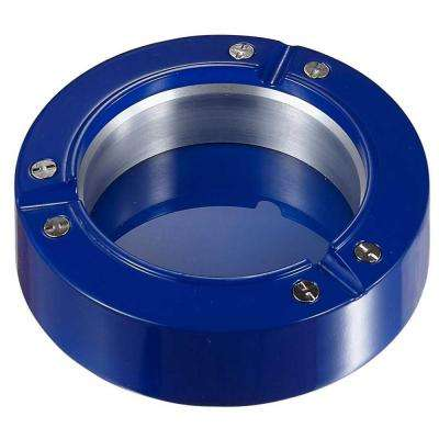Cobalt Metal and Resin Cigarette Ashtray