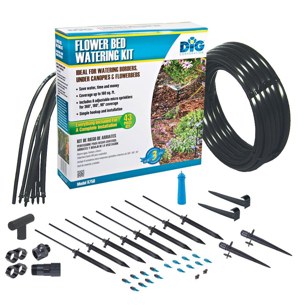 DIG Flower Bed Watering Kit-R750 - The Home Depot