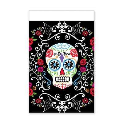 102 in. Day of the Dead Rectangular Plastic Table Cover (3-Pack)