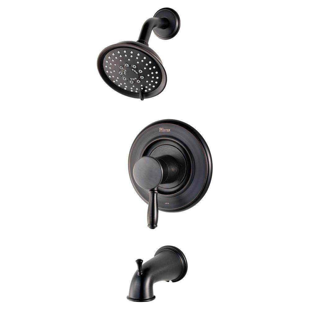 Pfister Universal Single-Handle Transitional Tub and Shower Faucet Trim Kit in Tuscan Bronze (Valve Not Included)