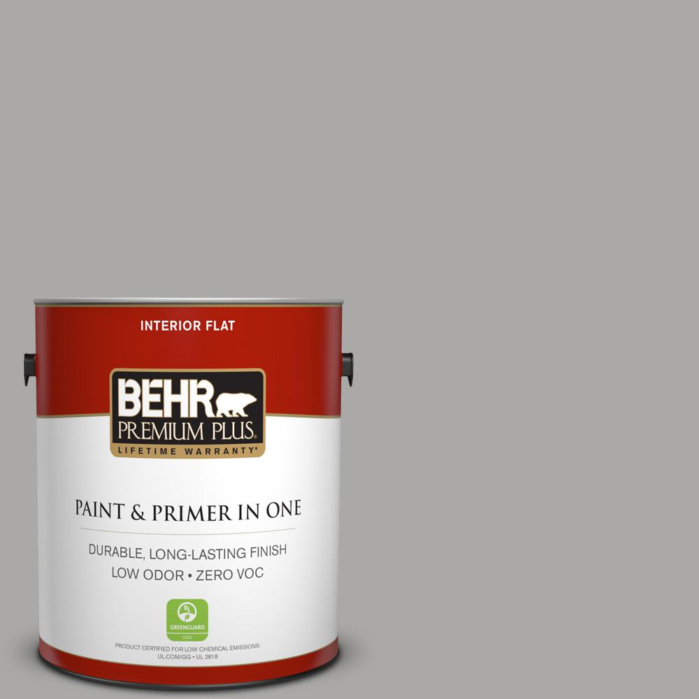 1 gal. #PPU18-14 Cathedral Gray Zero VOC Flat Interior Paint