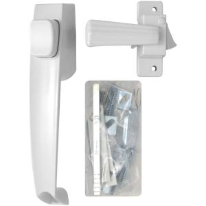 Wright Products Free-Hanging Black Push Button Handle Door Latch ...
