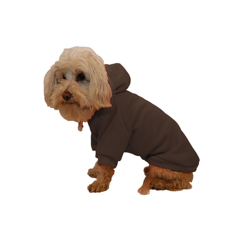 PET LIFE Small Cocoa Brown Fashion Ultra-Soft Cotton Pet Dog Hoodie Hooded Sweater