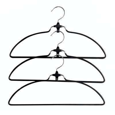 Black Metal Cascading Suit Hanger (3-Pack)