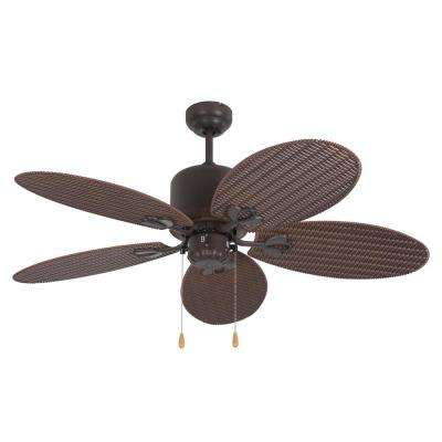 Tropical Breeze 48 in. Oil Rubbed Bronze Outdoor Ceiling Fan