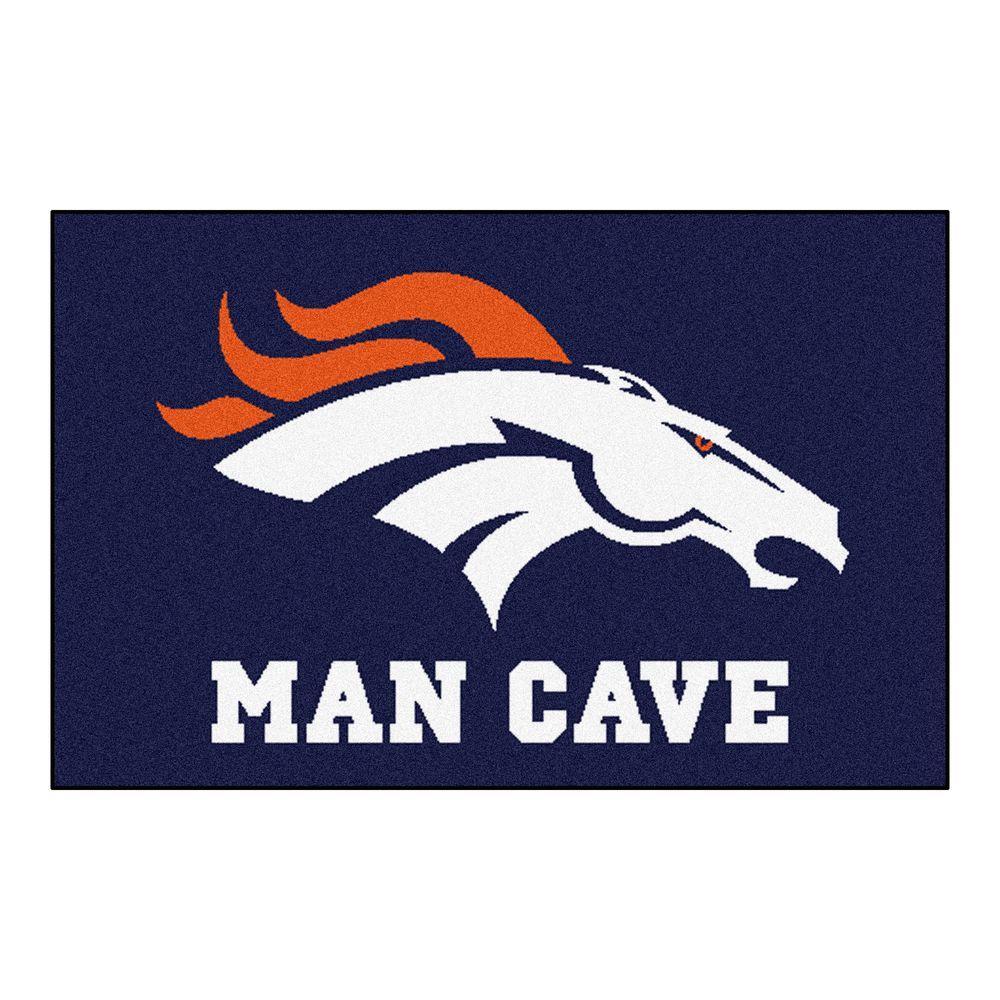 NFL Denver Broncos Blue Man Cave 2 ft. x 3 ft. Area Rug