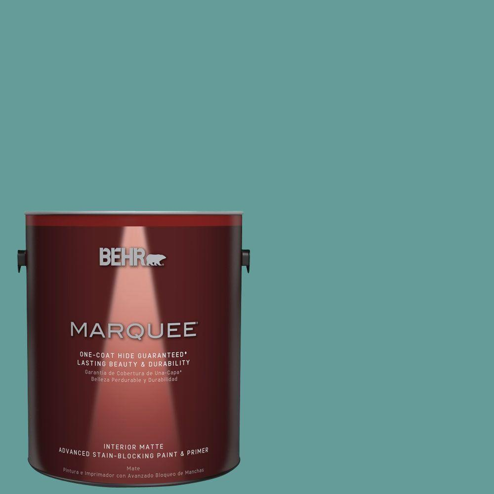 BEHR MARQUEE 1 gal. #MQ6-6 Semi-Precious One-Coat Hide Matte Interior Paint