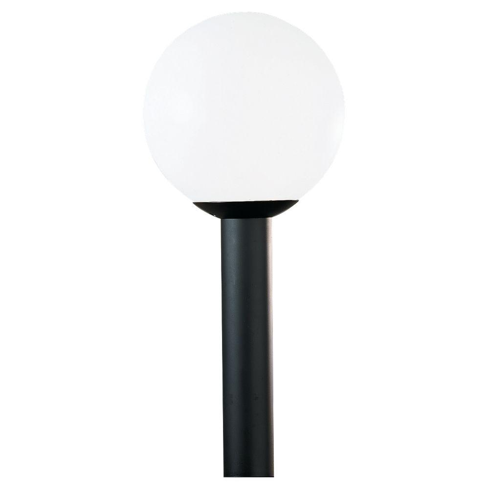 Sea Gull Lighting 1-Light Outdoor White Plastic Post Top