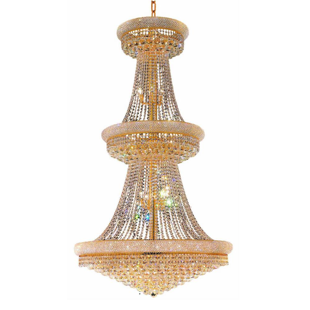 e6fee96db1 CWI Lighting Empire 32-Light Gold Chandelier-8001P30G - The Home Depot