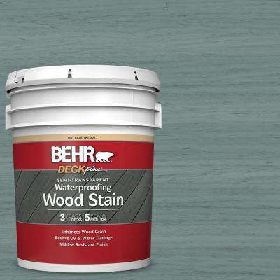 5 gal. #ST-119 Colony Blue Semi-Transparent Waterproofing Exterior Wood Stain
