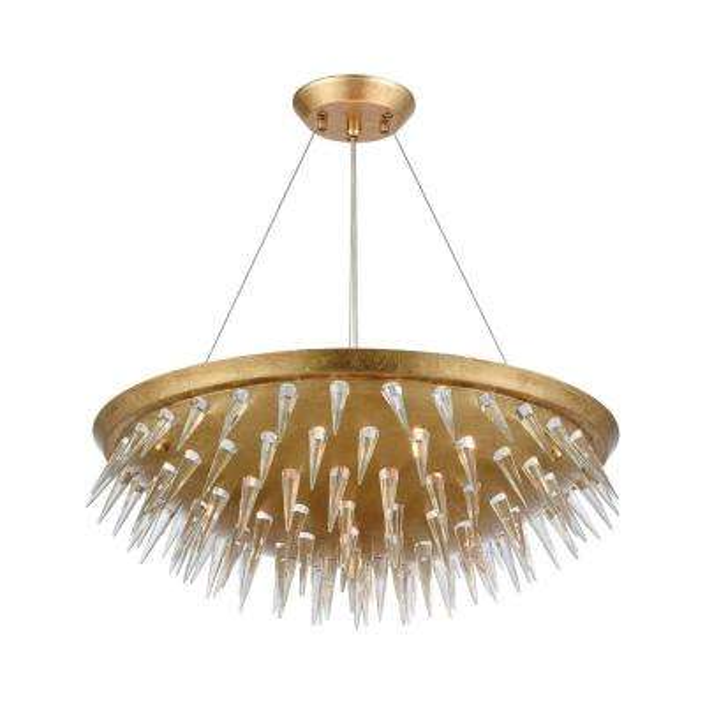 Sting 7-Light Gold Leaf Chandelier