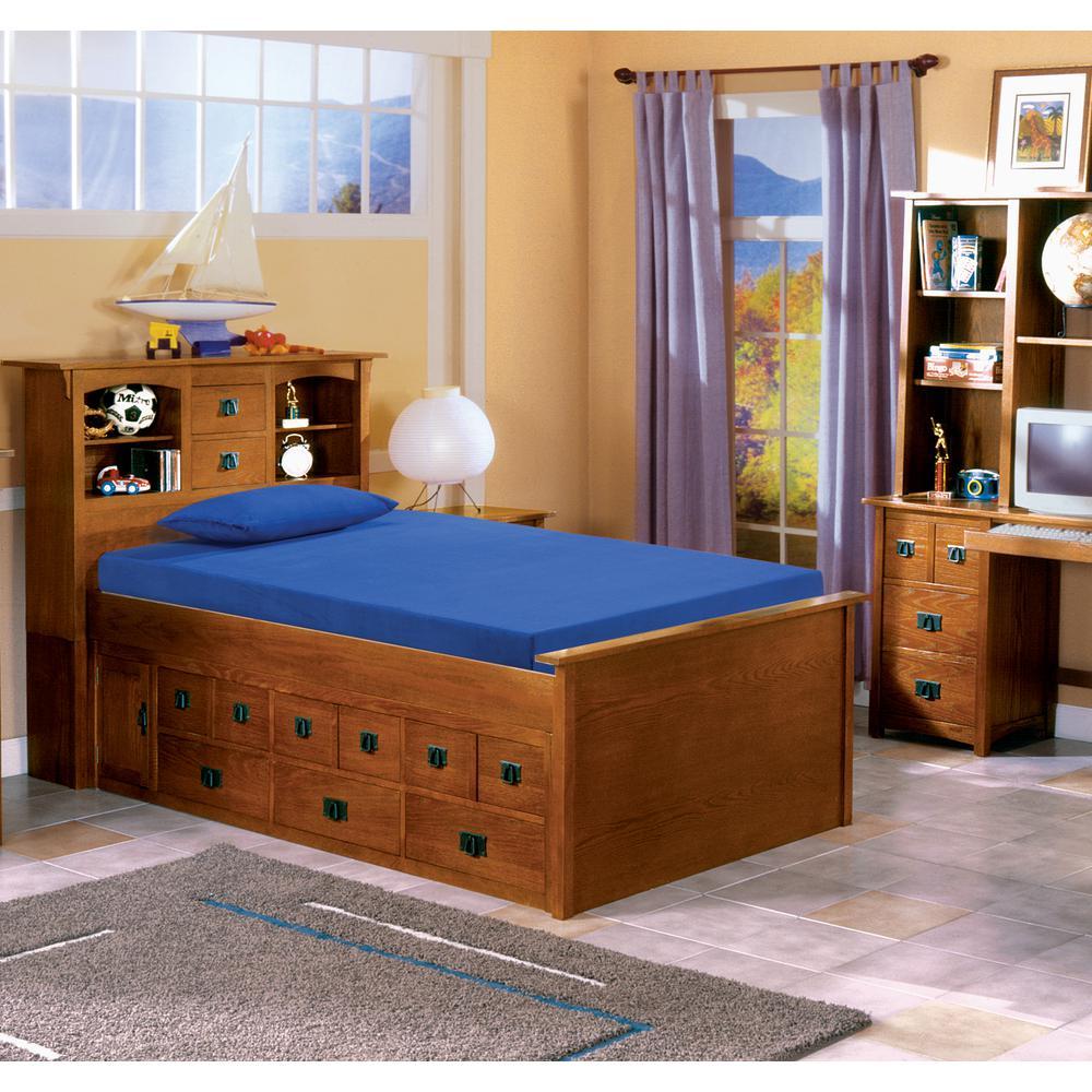 Kids Blue 5 in. Twin-Size Memory Foam Mattress with Comfort Foam