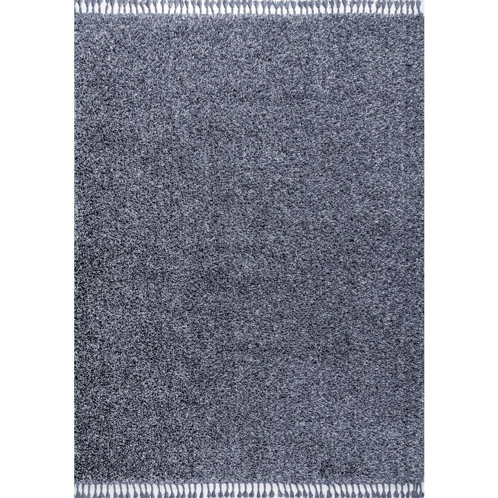 Mercer Shag Plush Tassel Denim Blue 5 ft. x 8 ft. Area Rug
