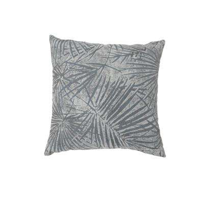 Olive 22 in. Grey Contemporary Standards Throw Pillow (Set of 2)