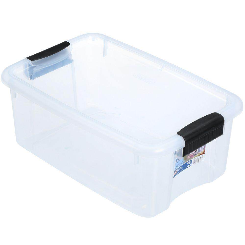 Sterilite 18 Qt Latch Storage Box 19848606 The Home Depot