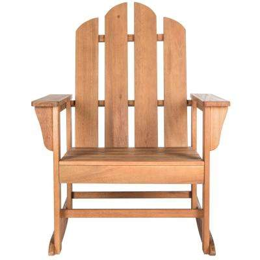 Moreno Natural Brown Wood Outdoor Rocking Chair
