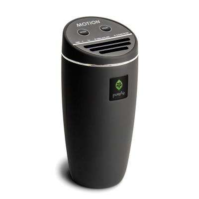 pureAir Motion - Compact for Vehicle, Cluster Ion Technology, Filterless Air Purifier, Black Rubberized