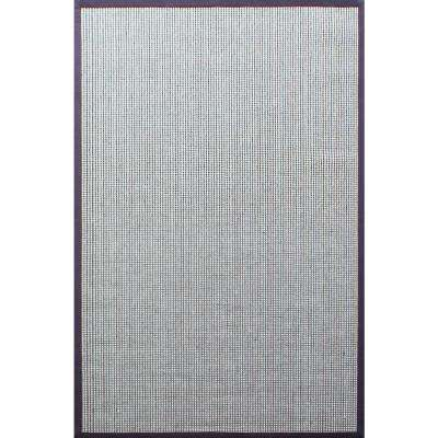 A1HC Sisal Wool Flat Boucle Chocolate Brown 8 Ft. X 10 Ft. Indoor Accent Rug