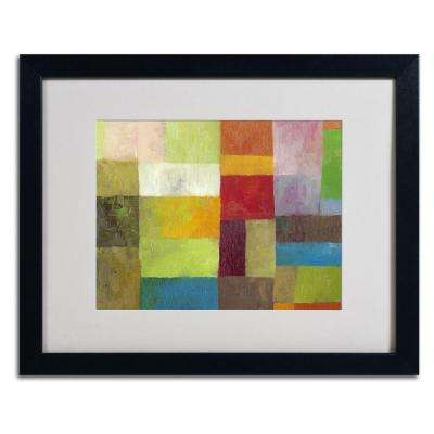 16 in. x 20 in. Abstract Color Panels 4 Matted Framed Wall Art