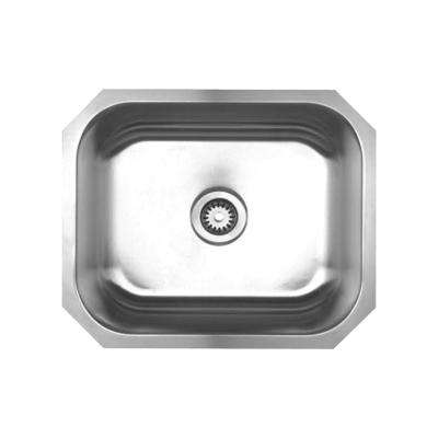 Noah's Collection Undermount Brushed Stainless Steel 22 in. Single Bowl Kitchen Sink