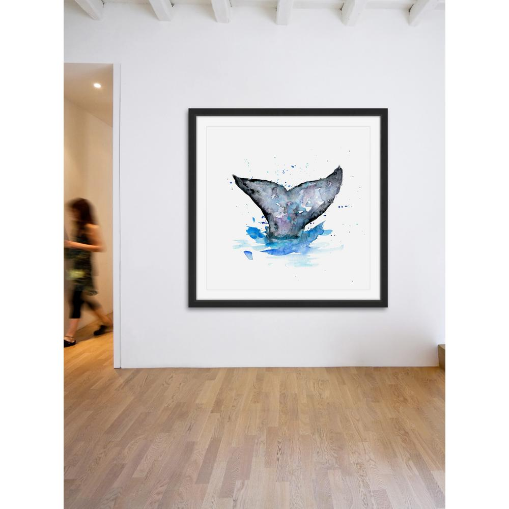 "40 in. H x 40 in. W ""Whale Tail"" by Michelle"