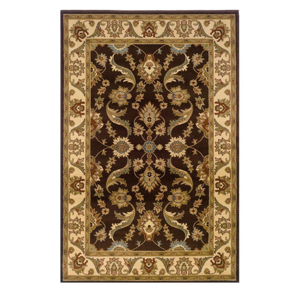Adana Brown/Cream 9 ft. 2 in. x 12 ft. 6 in. Vibrant Indoor Area Rug
