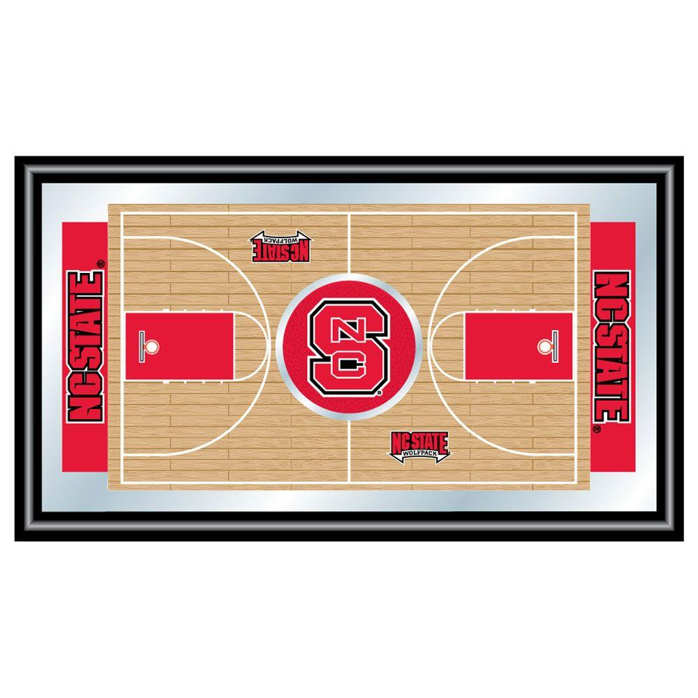North Carolina State Basketball 15 in. x 26 in. Black Wood