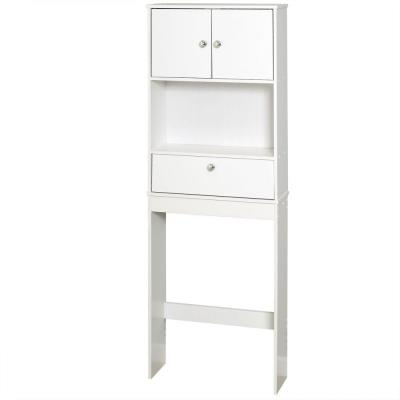 23 in. W x 64-1/2 in. H x 7-19/50 in. D Over the Toilet Storage Cabinet in White