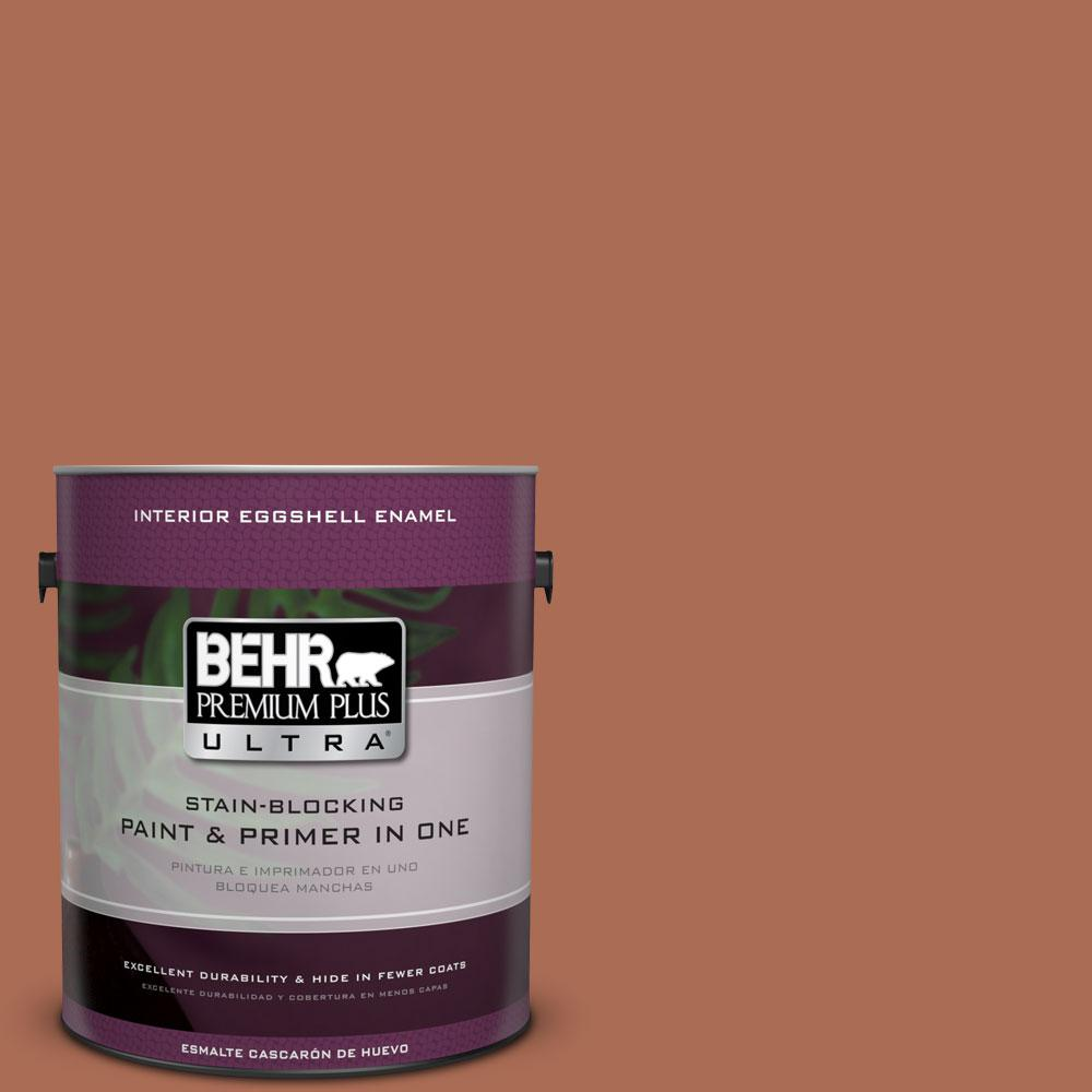 BEHR Premium Plus Ultra 1-gal. #BIC-45 Airbrushed Copper Eggshell Enamel Interior Paint