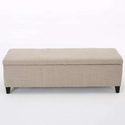 Glouser Sand Fabric Storage Bench