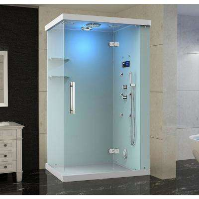 Ovato Windemere 48 in. x 36 in. x 87 in. Rectangular Steam Shower Enclosure with 6-Body Jets, Right Hand