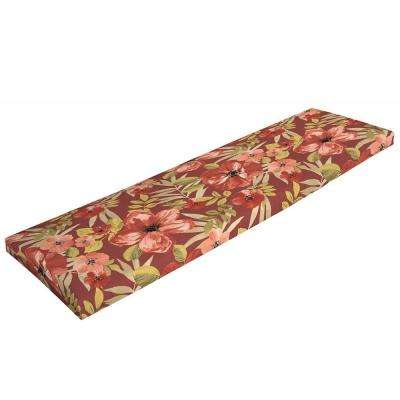 Chili Tropical Blossom Outdoor Bench Cushion
