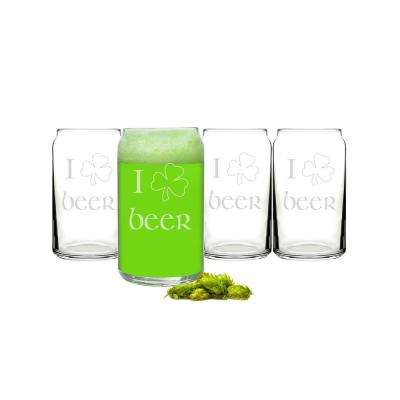 St. Patrick's 16 oz. Beer Can Glasses (4-Pack)