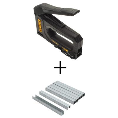 Carbon Fiber Tacker with 3/8 in. Heavy-Duty Staples (5000-Pack)